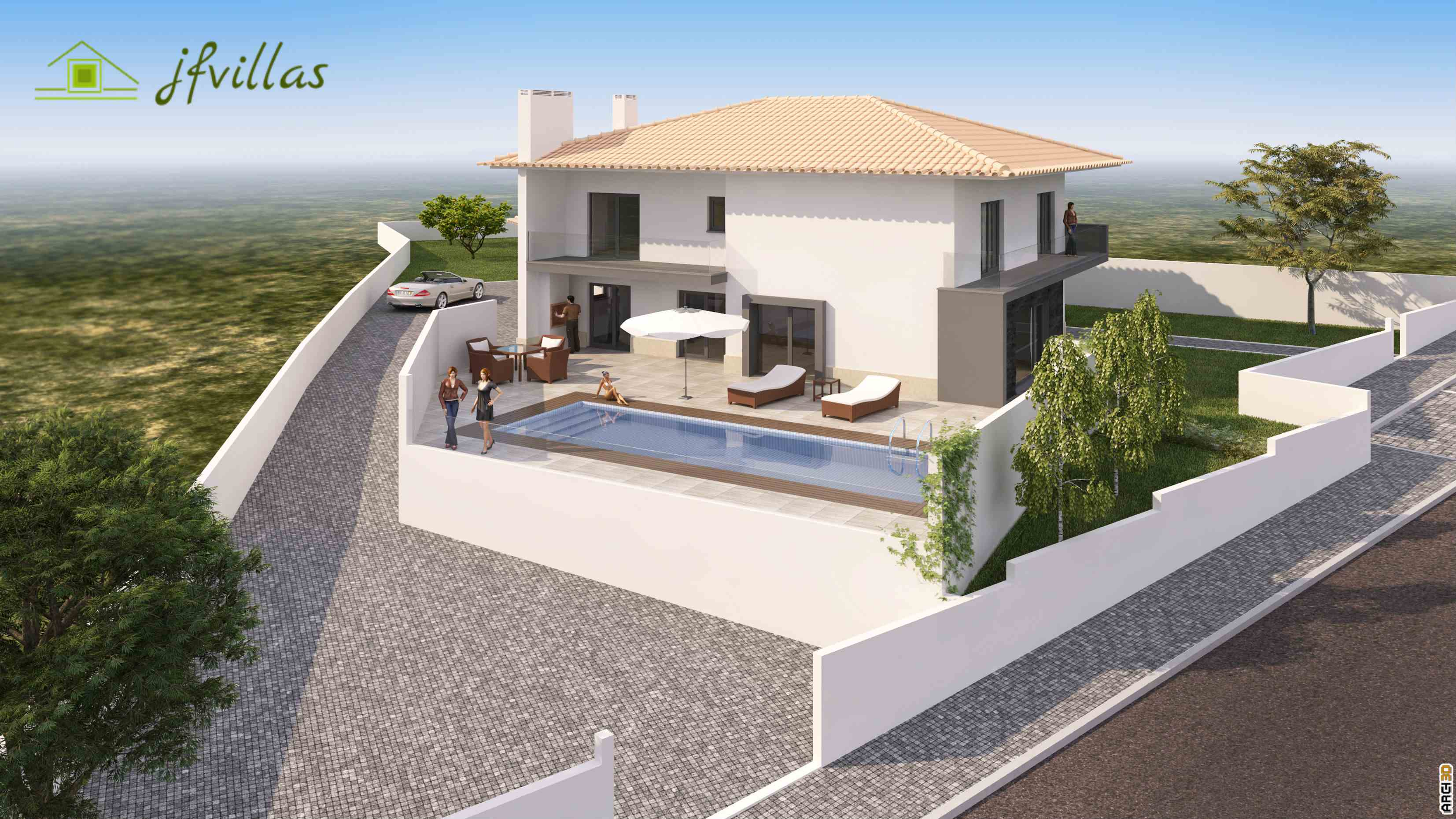 Two-storey modern house in Portugal 33